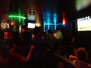 The glitz inside 5 Bar Karaoke Lounge in Koreatown