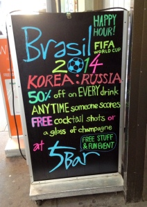 5 bar karaoke before South Korea's first match in the 2014 World Cup