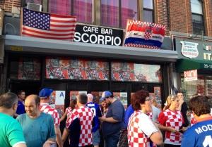 Cafe Bar Scorpio after Croatia's 4-0 win over Cameroon
