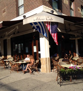 Athens Cafe in Astoria before the World Cup match between Greece and Japan