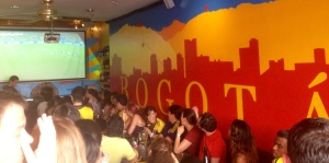 Inside Cafecito Bogota as Colombia defeated Uruguay 2-0 in the 2014 World Cup.