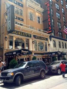 Hurley's Saloon near Times Square. Hurley's captured the excess Dutchmen who couldn't get into Tonic, Holland HQ