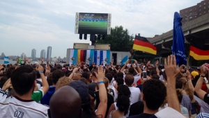 The German festival along the East River during the 2014 World Cup Final