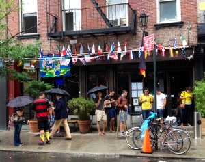Outside Loreley in the Lower East Side after Germany defeated France in the 2014 World Cup Quarterfinals