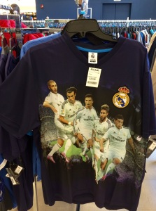 Weird Real Madrid clothes now prominent at Marshalls