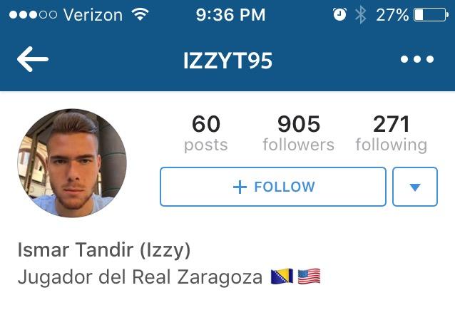 Izzy Tandir, Bosnia & Herzogovinia U21 striker raised in New Jersey, signs with Real Zaragoza; is he on Jurgen'sradar?