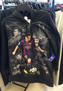 The polyester Messi lightning sweatshirt