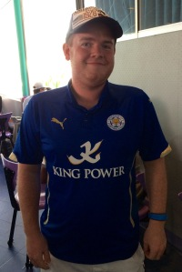 Nick, a proud Leicester City supporter, dines at Disney