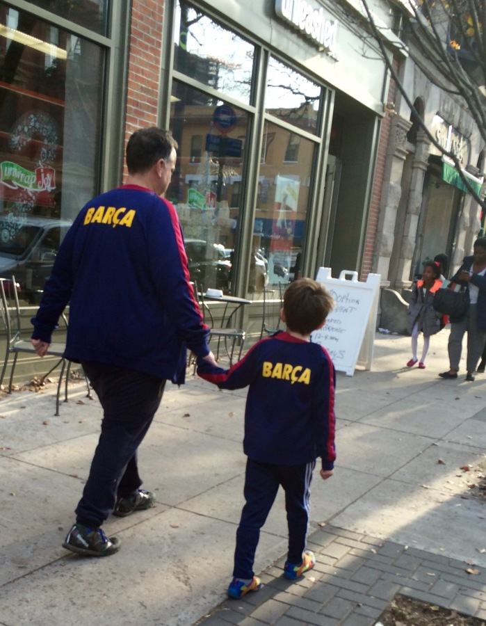 SPOTTED: Father-Son Barca Day in Park Slope