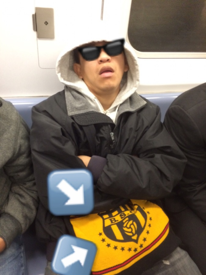 Spotted: Barcelona Sporting Club on the 2 Train